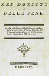 De los delitos y de las penas - C. Beccaria