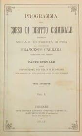 Programa del curso de derecho criminal - F. Carrara